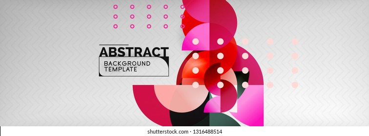 Circle composition abstract background, vector geometric modern design