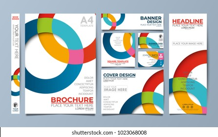 Circle corporate identity set flyer cover business brochure vector design, Leaflet advertising abstract background, Modern poster magazine layout template, Annual report for presentation.