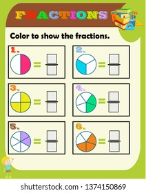 photo relating to Printable Fractions Chart named Portion Shots, Inventory Visuals Vectors Shutterstock
