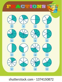 photograph relating to Printable Fractions Chart called Portion Visuals, Inventory Pics Vectors Shutterstock
