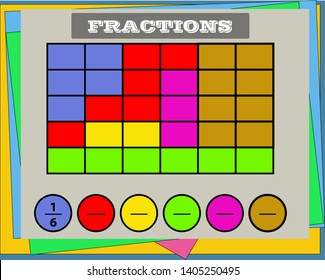 circle the correct fraction, Mathematics, math worksheet for kids.Fractions Addition, Printable Fractions Worksheets for kids , fraction addition problems.