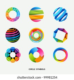 Circle Design Symbols Collection - Vector illustration