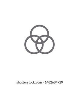 Circle diagram icon isolated on white background. Venn diagram symbol modern, simple, vector, icon for website design, mobile app, ui. Vector Illustration