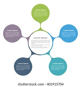 Circle flow diagram template eight elements stock photo photo circle diagram infographics with five elements with icons and text circle flow chart template ccuart Image collections