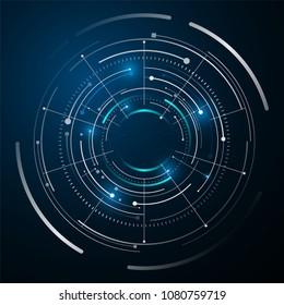 circle digital tech design concept background eps 10 vector