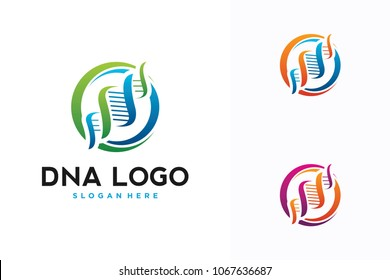 circle DNA logo design
