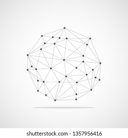 circle dot abstract icon on white background