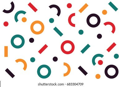 Circle Dots and Line Pattern Vector