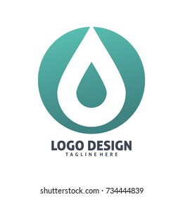 circle drop water logo design