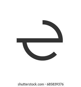 Circle E Letter Logo Template Illustration Design. Vector EPS 10.