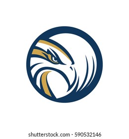 Circle Eagle Hawk Logo Symbol