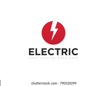 circle electric logo, icon, symbol, design template