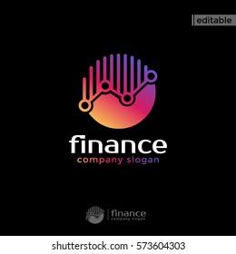circle finance logo. modern eye catching logo