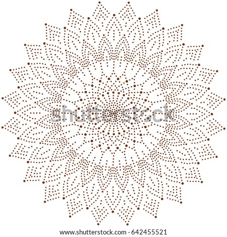 Circle Floral Ornament Dot Henna Tattoo Stock Vector Royalty Free