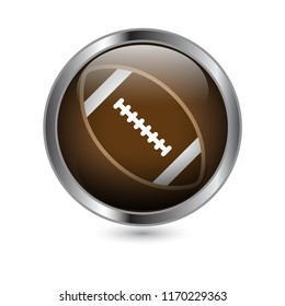 Circle Football Button