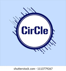Circle Frame Lable
