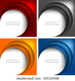 Circle frame set background on white background colorful vector for text and message design