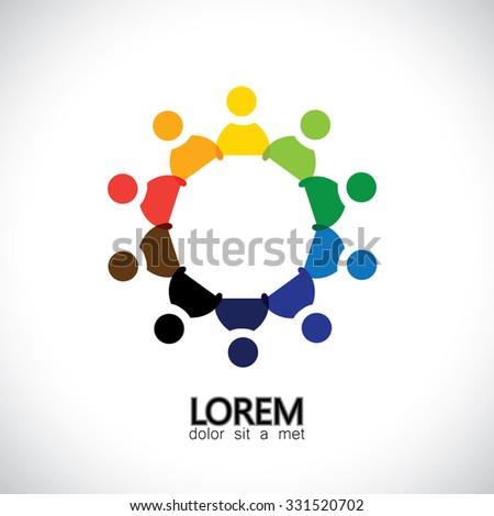 Circle Friendship Cooperation Teamwork Concept Vector Stock Vector