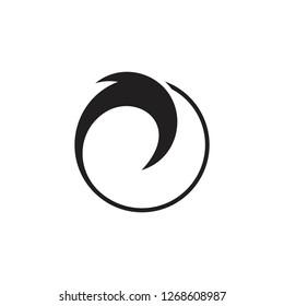 circle geometric waves silhouette circle logo vector