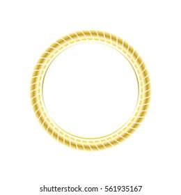 circle gold rope