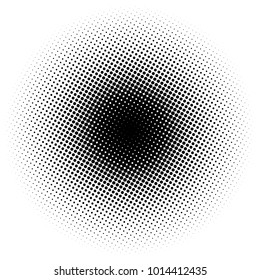 Circle gradient half tone dots background. Pop art template, texture. Vector illustration.
