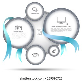 Circle group with ribbon for business concept