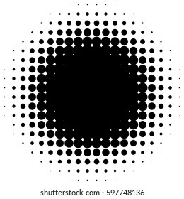 Circle halftone element (Monochrome dotted circular pattern)