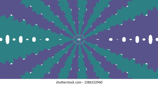 Circle halo light design Spread into a wavy line with wavy waves. Green and blue on the White Blackground