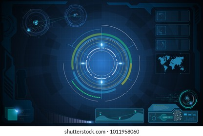 circle hud futuristic sci fi concept virtual ai template EPS 10 vector