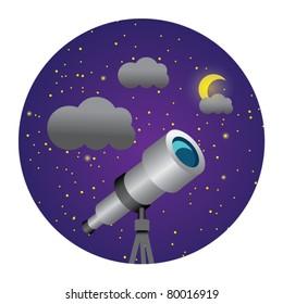 circle illustration of telescope