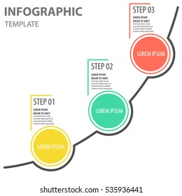 Circle increase for infographic