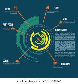 Circle info graph