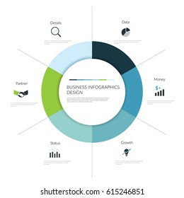 Circle infographic elements. Vector illustration