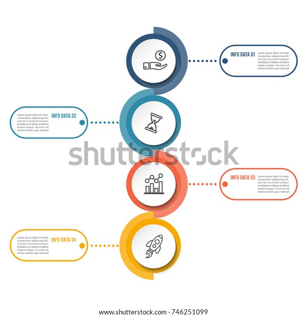 Circle infographic template four option, process or step for business presentation