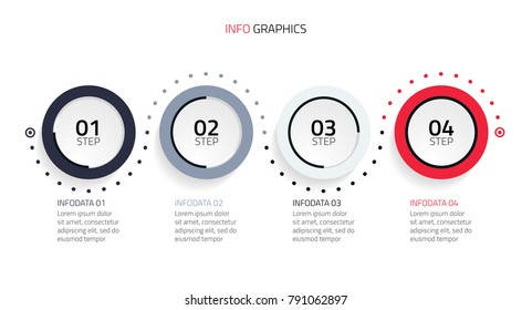Circle infographics design template.Business concept with 4 steps,options,pages.Vector illustration