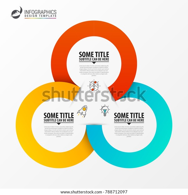 Circle infographics. Template for diagram, graph, presentation and chart. Vector illustration with 3 steps