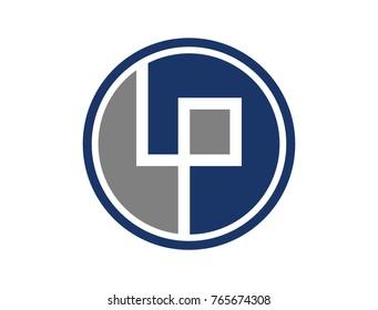 Circle Initial Letter LP Icon Logo Symbol