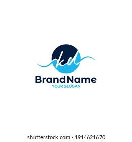 Circle KD Logo Design Vector