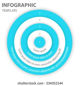 Circle layers for infographic