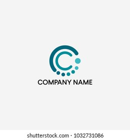 Circle and letter C logo design