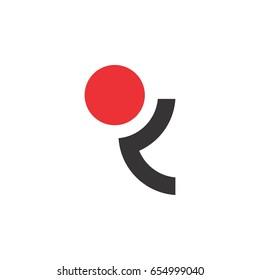 circle letter r or letter q logo