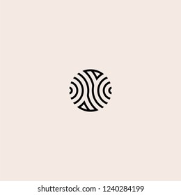 circle line abstract logo vector inspiration