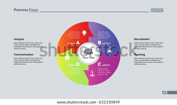 Circle Linked Four Sectors Slide Template