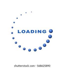 Circle loading 3d  (blue)