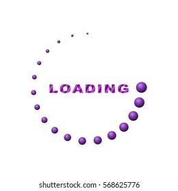 Circle loading 3d (purple)