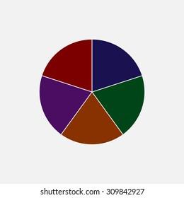 Circle logo design, illustration. Colorful.