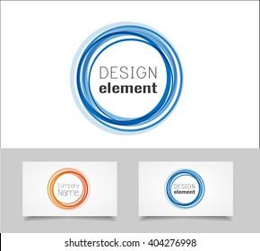 Circle logo design template