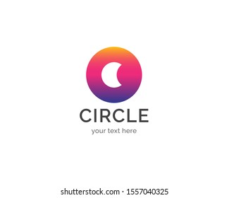 Circle logo design template. Creative and simple circle vector logo icon