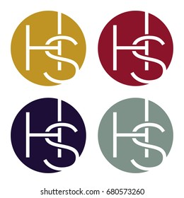 Circle logo icon with a combination of two-letter initials, H and S.