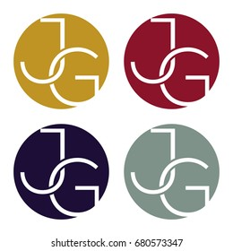Circle logo icon with a combination of two-letter initials, J and G.